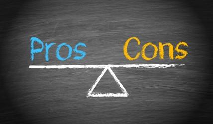 Pros And Cons - Balance Concept